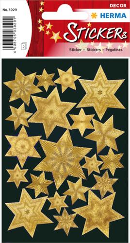 Herma 3929 Sticker Kerstster Graveerfolie - Goud