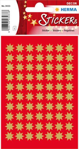 Herma 3933 Sticker Kerstster 10 mm - Goud