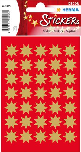 Herma 3935 Sticker Kerstster 16 mm - Goud