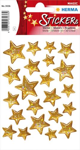 Herma 3936 Sticker Kerstster II - Goud