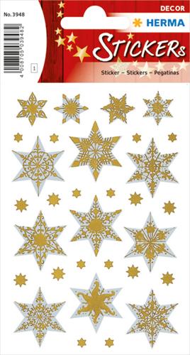 Herma 3948 Sticker Kerstster - Zilver&Goud