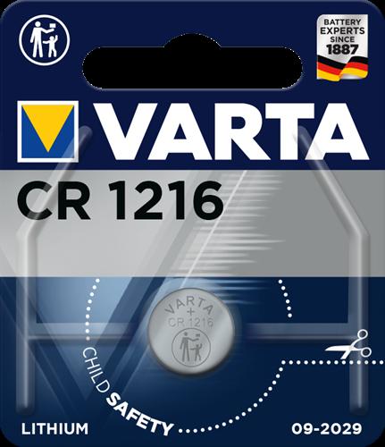 Batterij Varta knoopcel CR1216 lithium blister a 1stuk