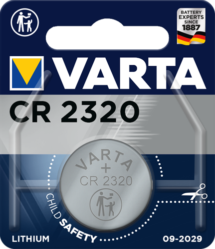 Batterij Varta knoopcel CR2320 lithium blister a 1stuk