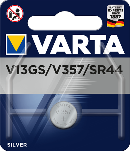 Batterij Varta knoopcel V13GS Silver blister a 1stuk