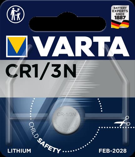 Batterij Varta knoopcel CR1/3N lithium blister a 1stuk