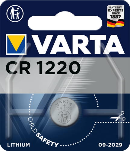 Batterij Varta knoopcel CR1220 lithium blister a 1stuk