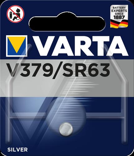 Batterij Varta knoopcel V379 silver blister a 1stuk
