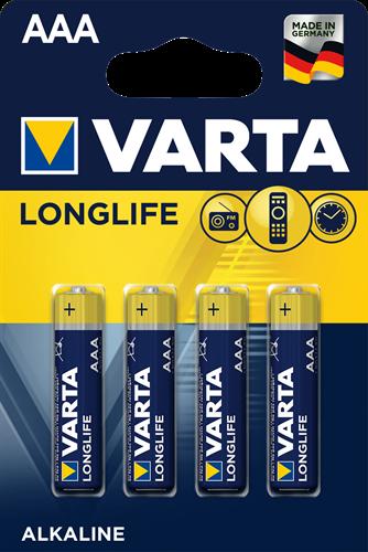 Batterij Varta Longlife Blister 4xAAA