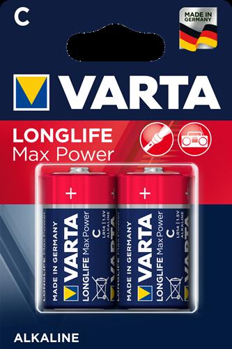 Batterij Varta Longlife Max Power Blister 2xC