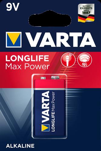 Batterij Varta Longlife Max Power Blister 9V