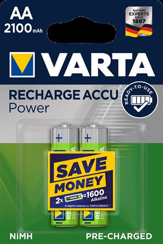 Batterij oplaadbaar Varta 2xAA 2100mAh ready2use