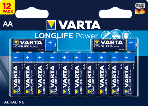 Batterij Varta Longlife Power 12xAA