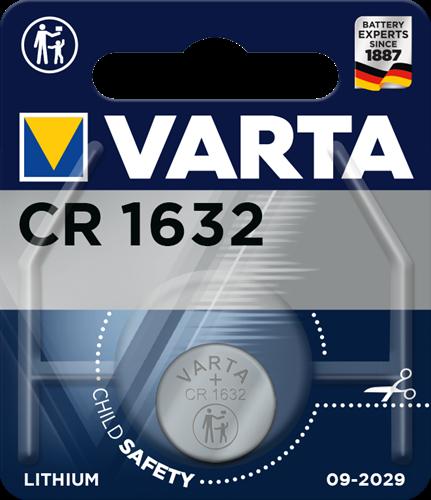 Batterij Varta knoopcel CR1632 lithium blister a 1stuk