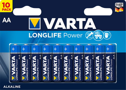 Batterij Varta Longlife Power 10xAA