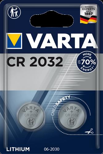 Batterij Varta knoopcel CR2032 lithium blister a 2stuk