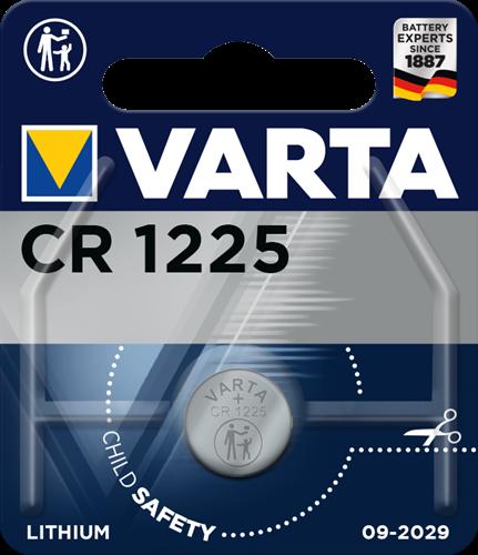 Batterij Varta knoopcel CR1225 lithium blister a 1stuk