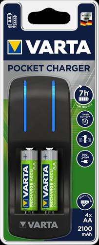 Batterij oplader Varta pocket charger 4xAA 2100 mAh