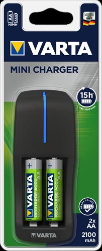 Batterij oplader mini Varta 2xAA 2100 mAh