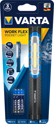 Zaklamp Varta work flex pocket light