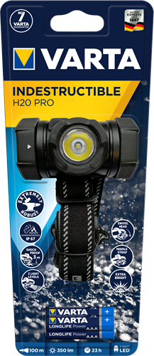 Zaklamp Varta indestructible H20 pro