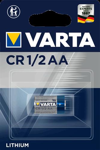 Batterij Varta knoopcel CR1/2AA lithium blister a 1stuk
