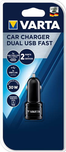 Batterij Varta Car Charger Dual USB