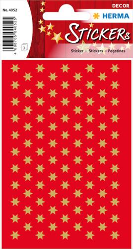 Herma 4052 Sticker Kerstster 6 mm - Goud