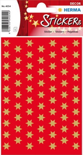 Herma 4054 Sticker Kerstster 8 mm - Goud