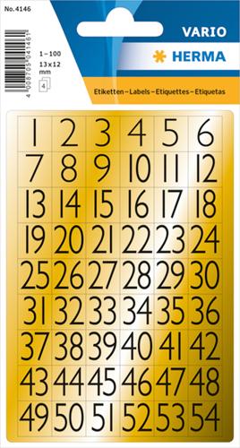 Herma 4146 Sticker Getallen 1 - 100
