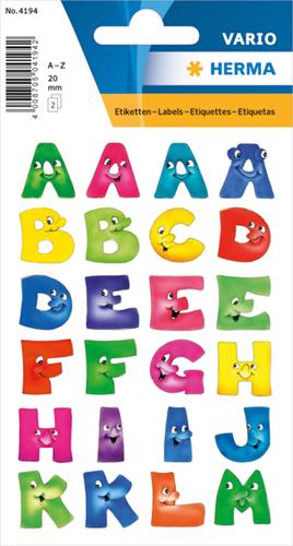 Herma 4194 Sticker Letters A - Z Leuke Gezichten