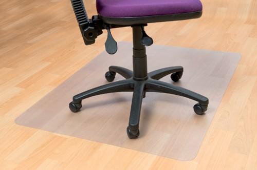 Stoelmat Floortex PVC 134x115cm  voor zachte vloeren