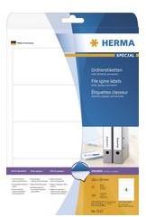 Etiket Herma 4284 ordnerrug, 192 x 61 mm, wit