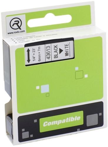 Labeltape A-series 43613 D1 720780 6mmx7m zwart op wit