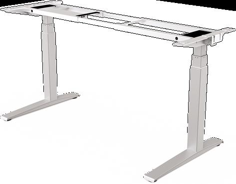 Frame Zit-Sta bureau Levado™ zilver (RAL 9022)